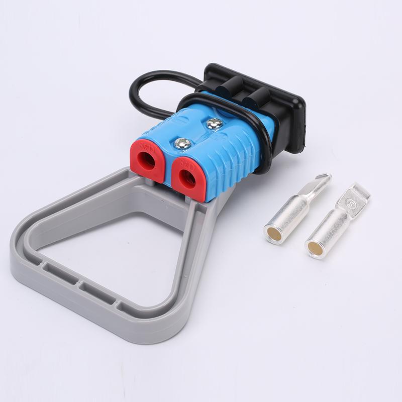 175A安德森插头 应急电源插头 蓝色 含配件软防尘罩 拉手 固线塞