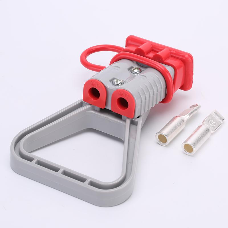 175A安德森插头 安德森双极连接器 带拉手 固线塞 软防尘保护盖