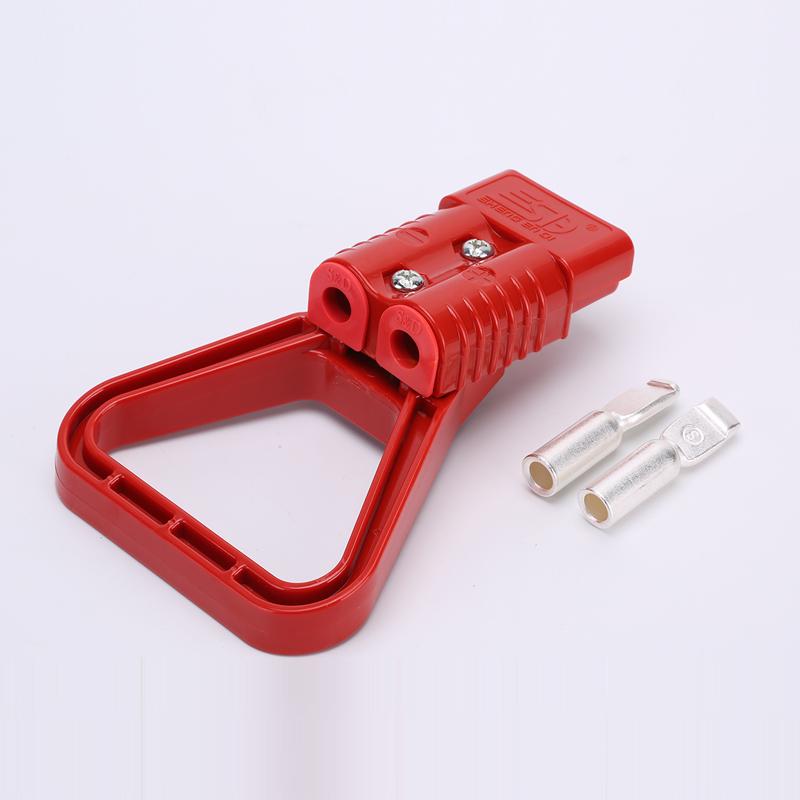 175A安德森插头连接器 红色 插拔力辅助拉手 固线塞 软防尘保护盖