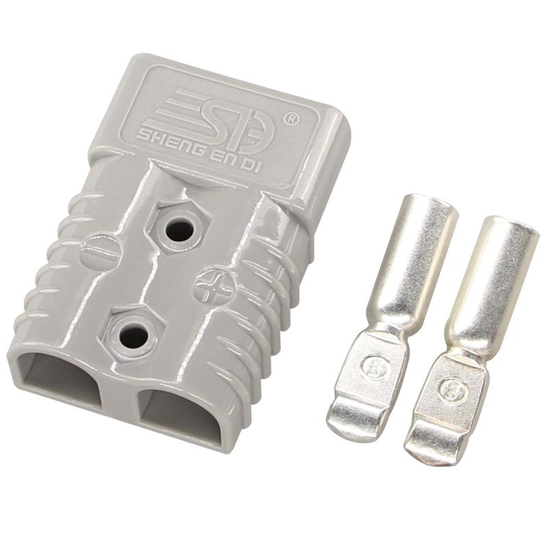 175A600V双极连接器 安德森插头 灰色插头 叉车电源充电插头 电动汽车电源接插件