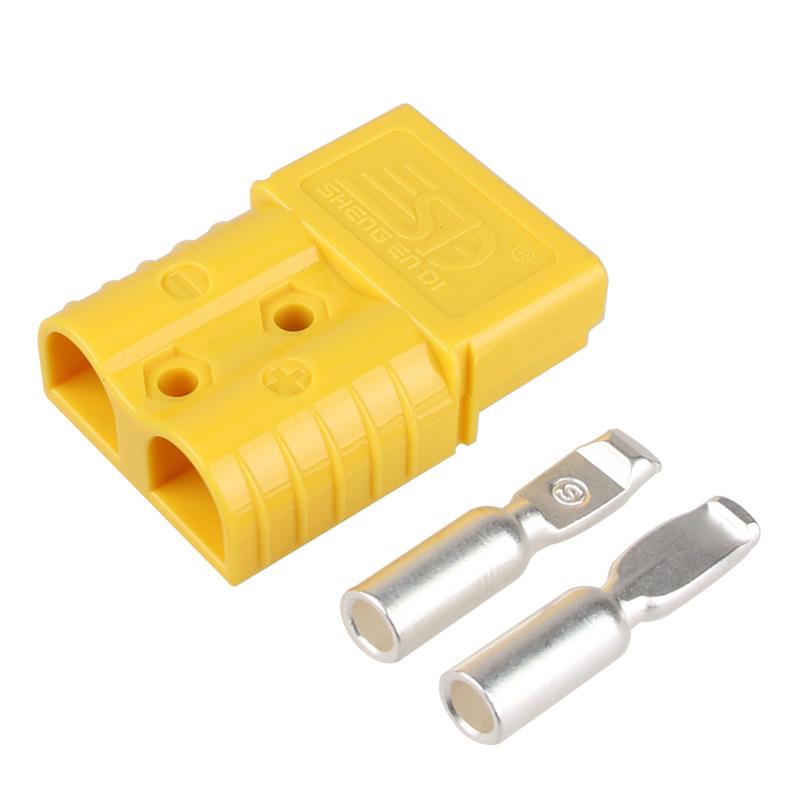 120A600V双极连接器 安德森插头 黄色胶壳 叉车充电插头 大功率电源接插件