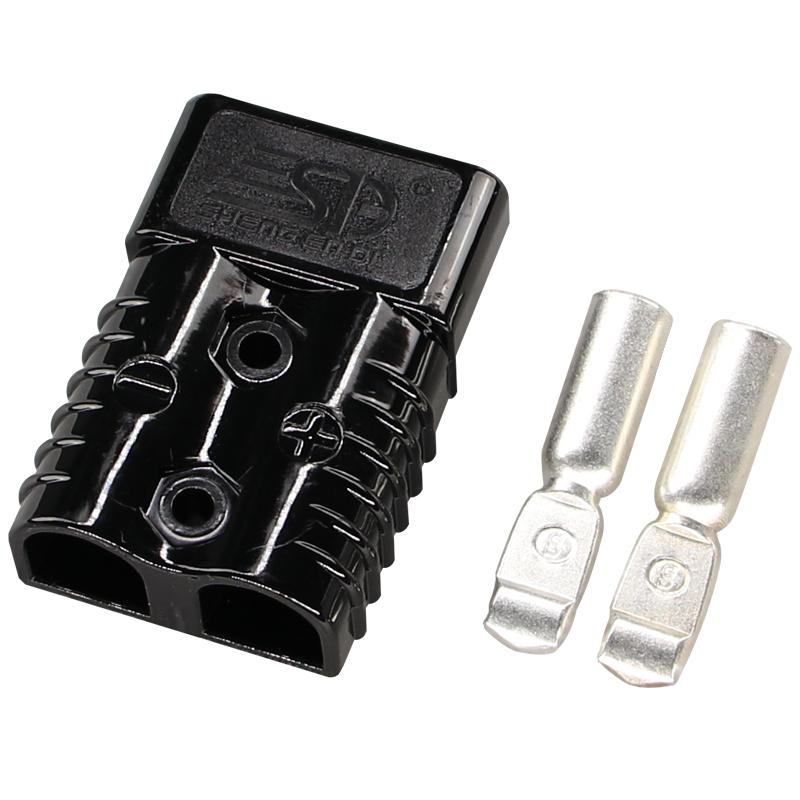 175A600V双极连接器 安德森插头 黑色插头 叉车专用充电连接器 蓄电池插头 电动车电源接插件